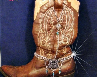 VINTAGE Boot Chains Silver Boot Jewelry SINGLE Boot Bracelets Tony Lama