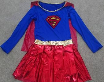 Supergirl Cosplay Costume Dress