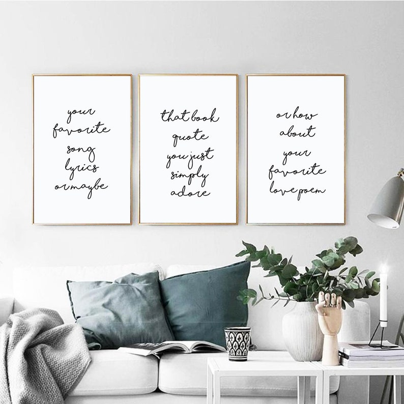 Tremendous Personalized Artwork Set Of 3 Prints Living Room Wall Decor Custom Quote Print Family Room Art Above Couch Wall Decor Download Free Architecture Designs Scobabritishbridgeorg