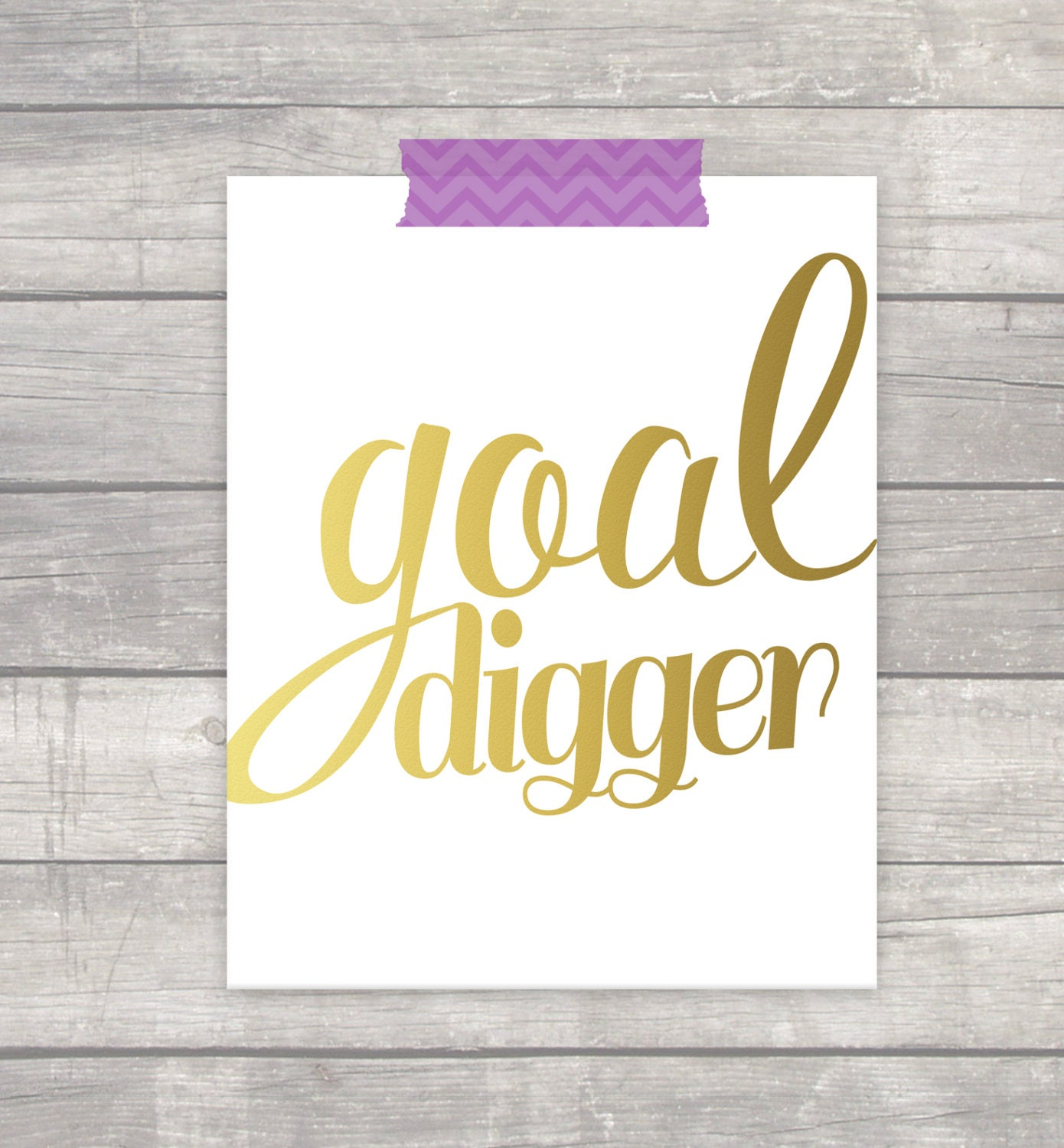 Goal Digger Quote Office Print Inspirational Motivational | Etsy