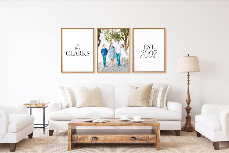Astounding Personalized Family Artwork Set Of 3 Prints Living Room Wall Decor Family Picture Art Family Room Art Above Couch Wall Decor Download Free Architecture Designs Scobabritishbridgeorg