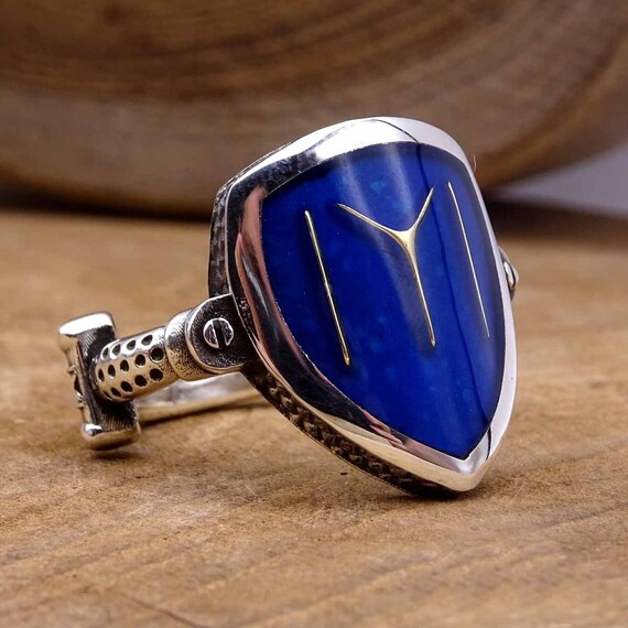 Dirilis Ertugrul Shield Silver Ring, 925 Sterling Silver Mens Ring, Mens  Signet Ring, Authentic Rings, Ottoman Kayi Tribe Ring