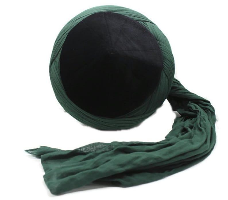 handmade naqshbandi cap black cyprus imamah unique islamic