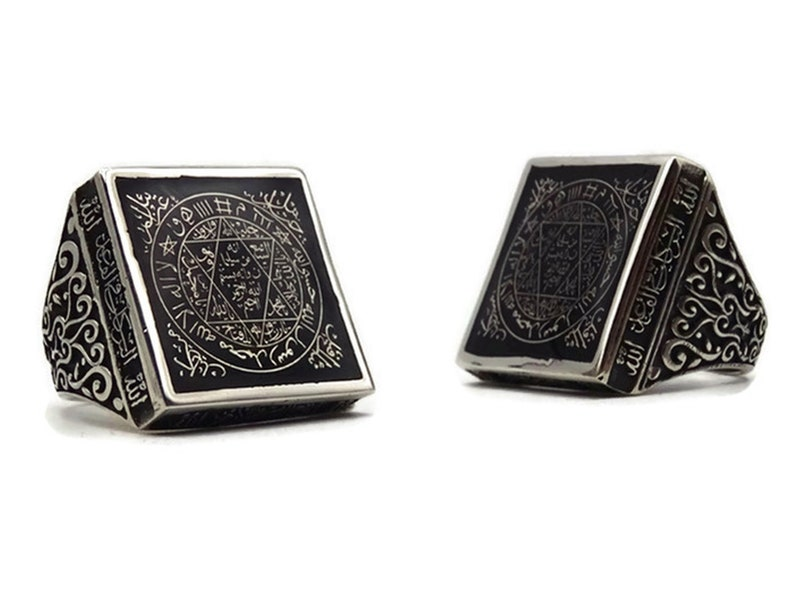 Mens Silver ring King Solomon Ring Stamp of the Hz Prophet Suleyman Sterling Silver Ring Unique Collection