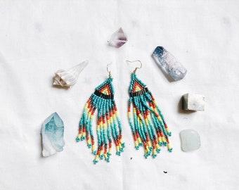 Desert Queen Beaded Earrings