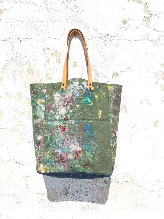 Drawstring Backpack Paint Splash Shoulder Bags