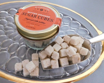 ORANGE BITTER  CUBES - Bitters Infused Sugar Cubes for Cocktails