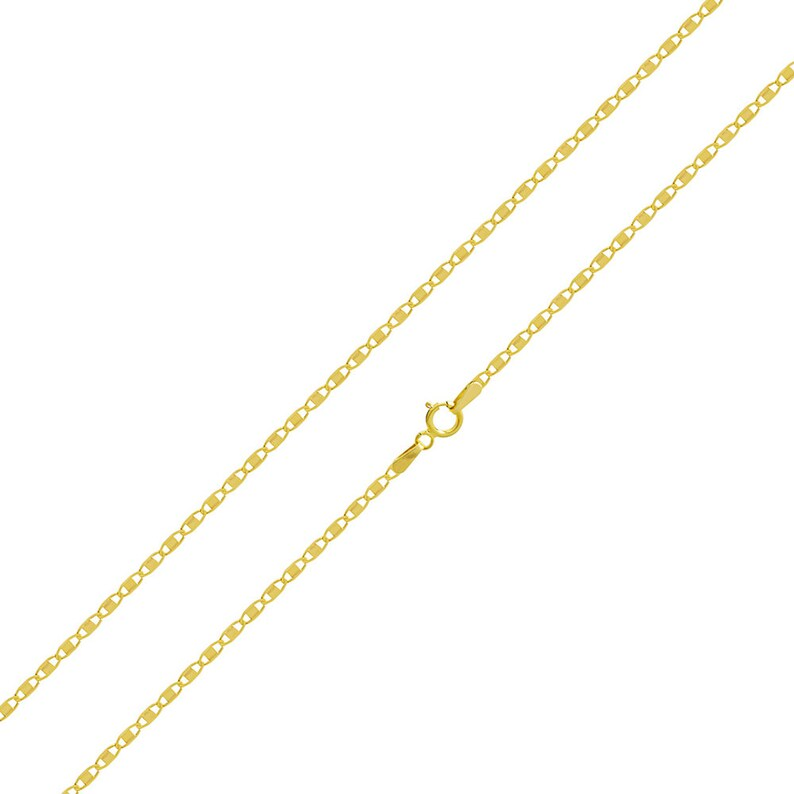 14K Yellow Gold Baptism Charm Pendant with 2.3mm Figaro 3+1 Chain Necklace