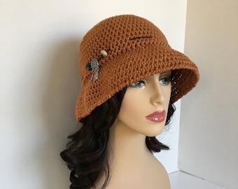 Women's Sun Hat,Horseback Riding,Crochet Women's Hat,Brimmed,Bucket Hat,Spring Hat,Beach Hat, Cotton Sun Hat, Sun Hat, Beach Hat, Summer Hat