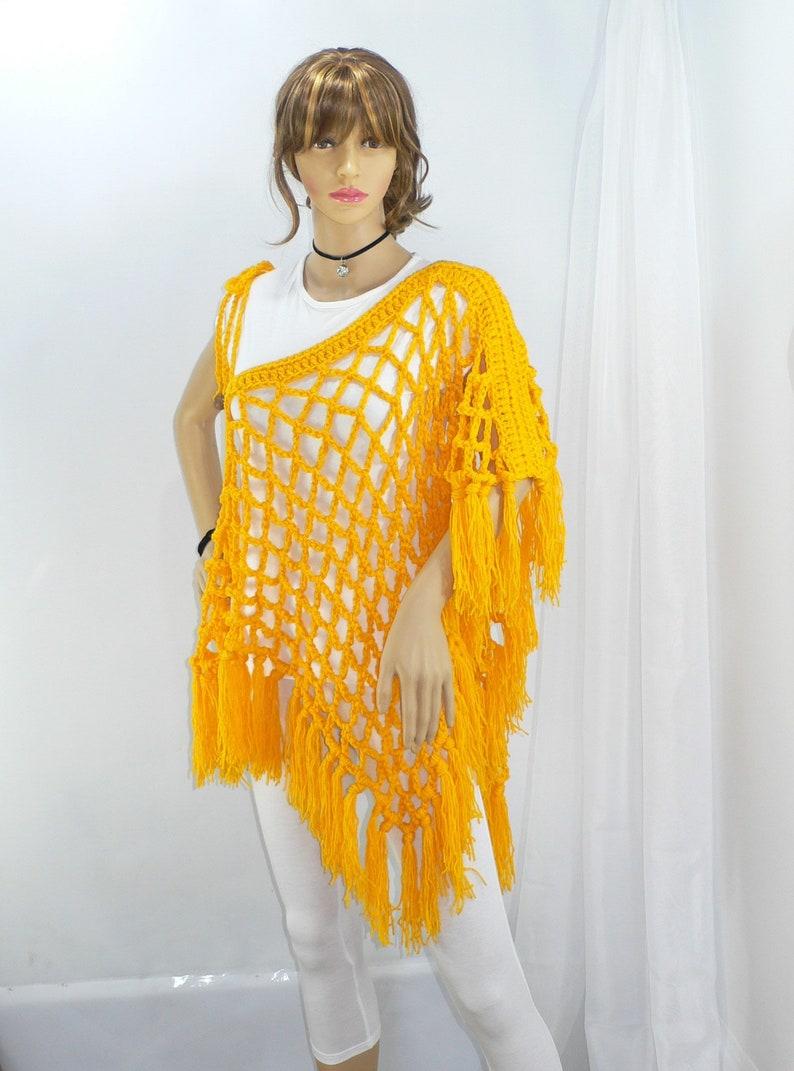 5acc461f9f Fishnet Top Bohemian Clothing for Women Fringe Trim   Etsy