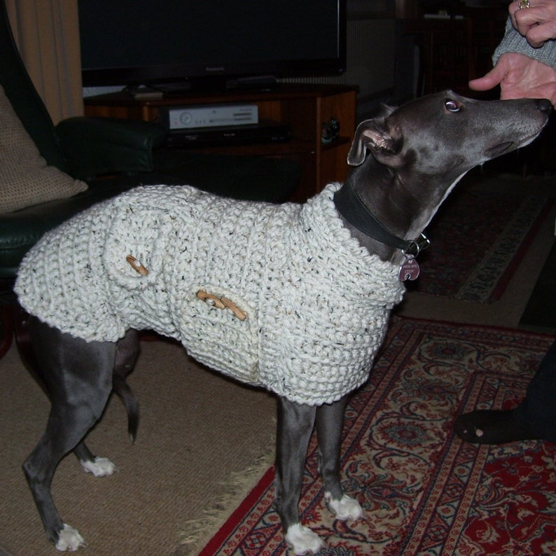 Whippet Clothing Lined Dog Jumper Warm Whippet Coat Crochet image 0