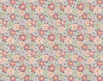 Turquoise  735C 100/% cotton fabric LIBERTY  Winterbourne Primula Posey