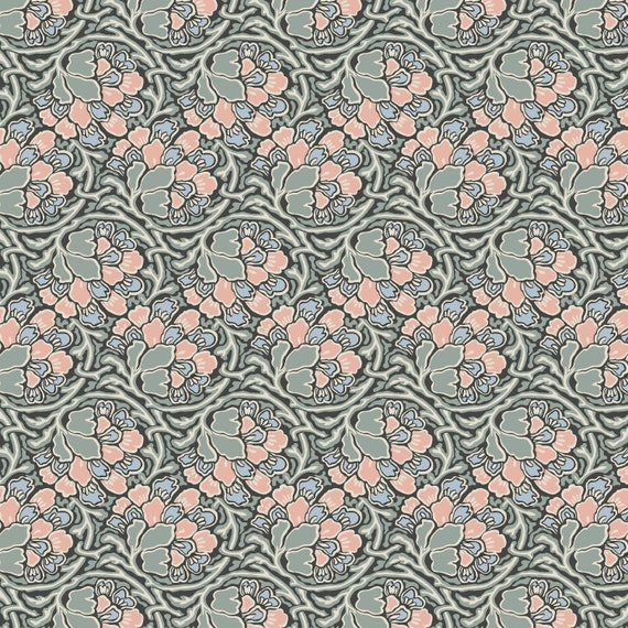 Dianthus Dreams 04775649Z Liberty Hesketh House Orange  100/% cotton Fabric