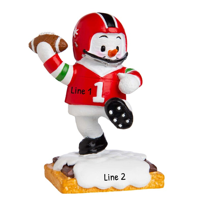 Football Player Gift Personalized Football Ornament Football Team Gifts Coach Custom Name Football Ornament Football Christmas Ornament