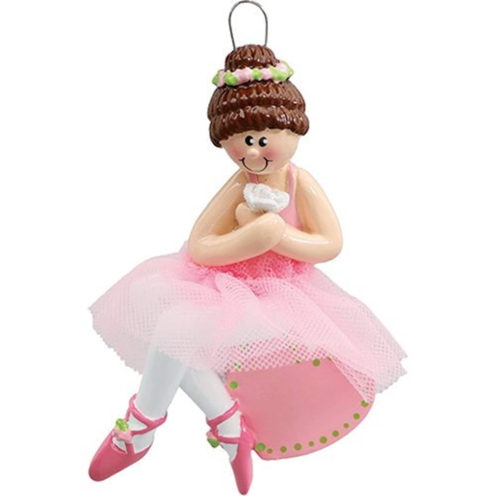 personalized christmas ornaments 2018 ballerina pink ballet dress shoe dance dancer ballerina sports active holiday - free custo