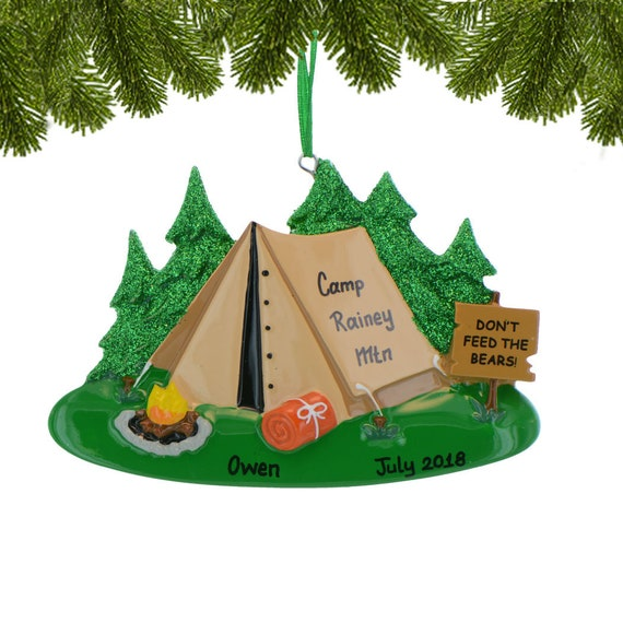 Christmas In July Camping Decorations.Personalized Camper Ornament Happy Campers Christmas Ornament Custom Camping Tent Ornament Caravan Ornament With Name Camp Traveler Gift