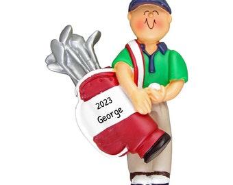 Personalized Golf Boy Ornament, Golfer Christmas Ornament, Custom Golf Ornament, Golf Ornament, Golf Cart, Golf Bag, Gifts for Golfer, Hobby