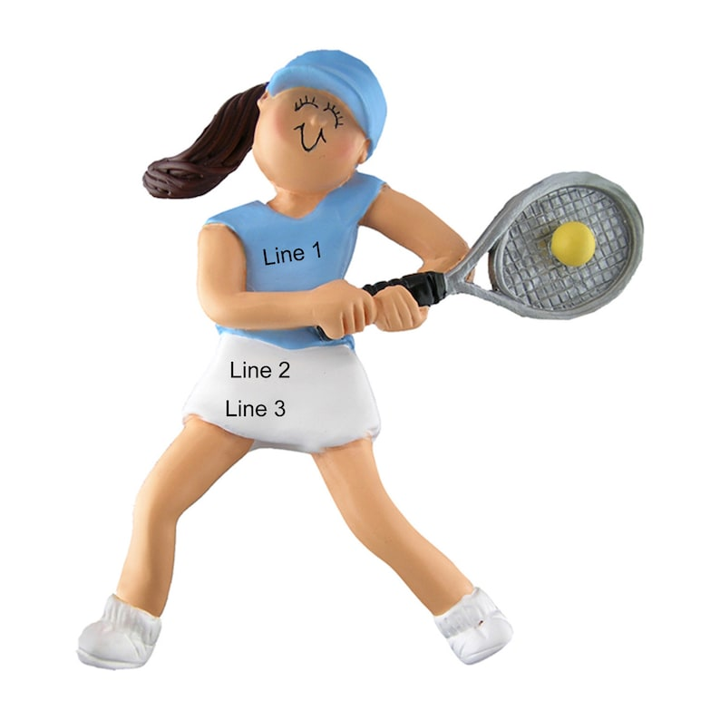 Tennis Girl Christmas Ornament Personalized Tennis Ornament Custom Tennis Boy Ornament,Sports Ornament,Gift for Tennis Players 4.25x2.5