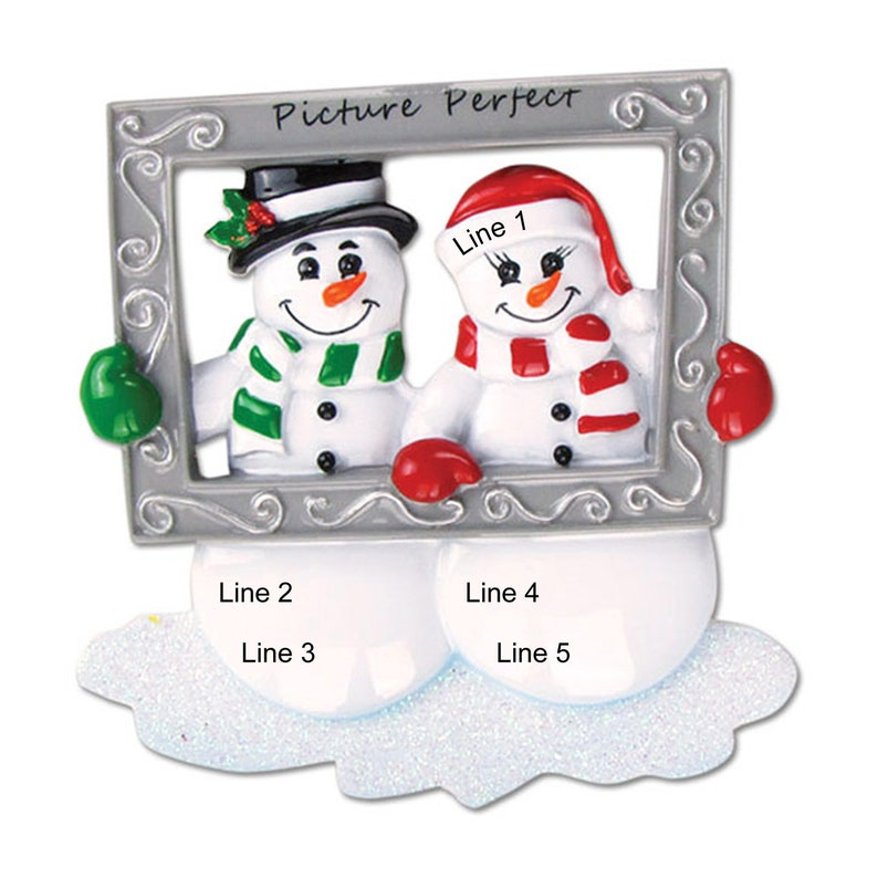 Gift for Couple Couple Ornament Custom Couple Ornament Couple Christmas Ornament Personalized Couple Ornament First Christmas 4x3.75