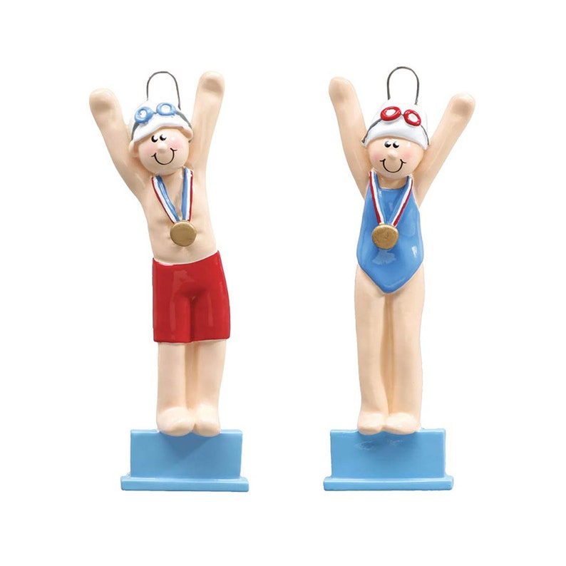 Diver Kids Team Coach 4.75x2 Custom Learning Swim Ornament Swimmer Christmas Ornament Gift for Swimmers Personalized Swim Ornament
