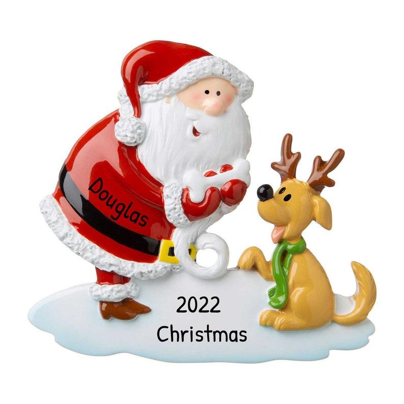 Santa Tree Decor Santa Christmas Ornament 3.75x4 Christmas Nursery Custom Santa Clause Ornament with Name Personalized Santa Ornament
