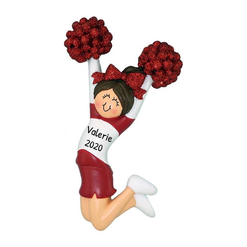 Custom Cheer Ornament Personalized Cheerleader Ornament Cheerleader Ornament Cheerleader Christmas Ornament Cheerleader Gift 4.25x2.5