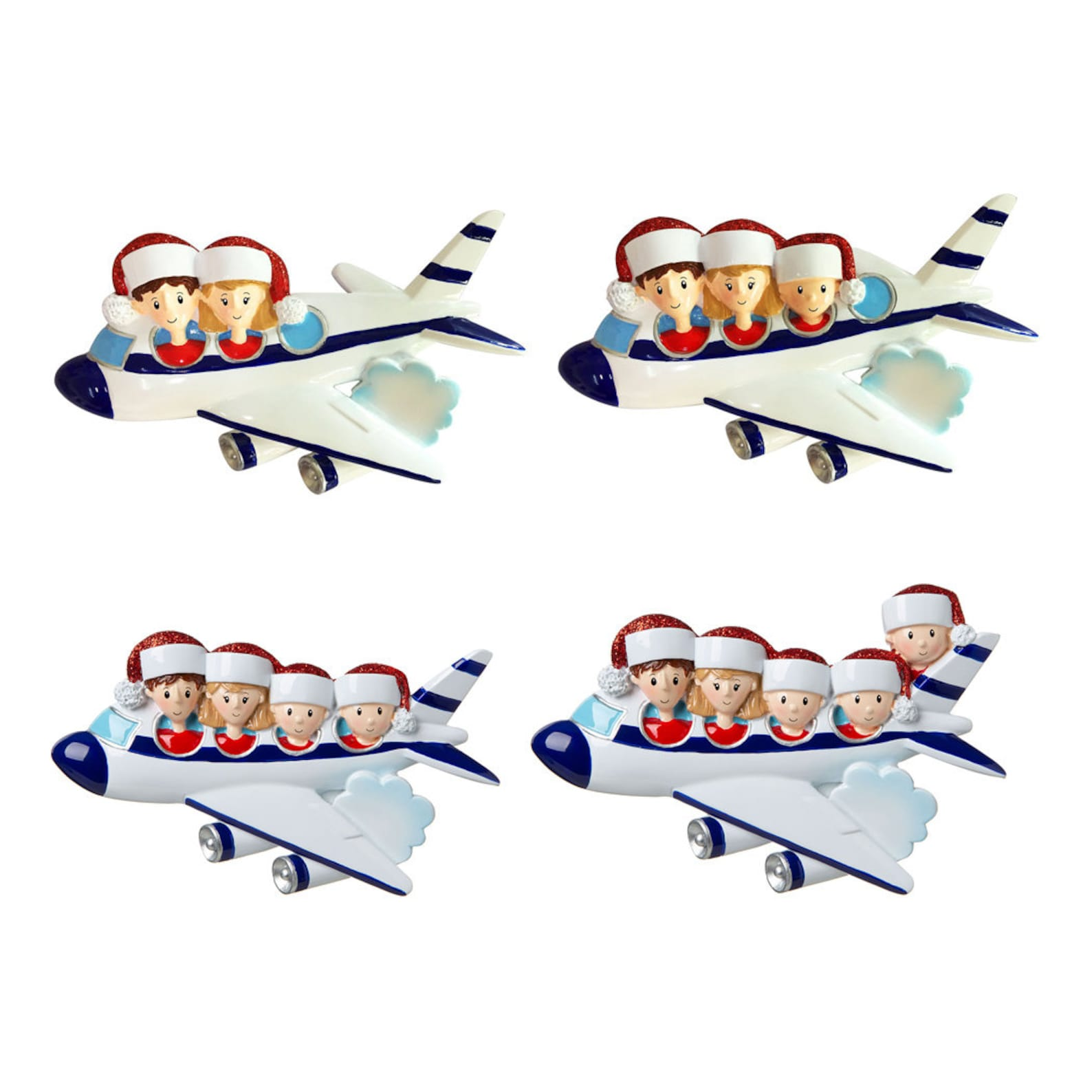 Personalized Family Flying Vacation Ornament