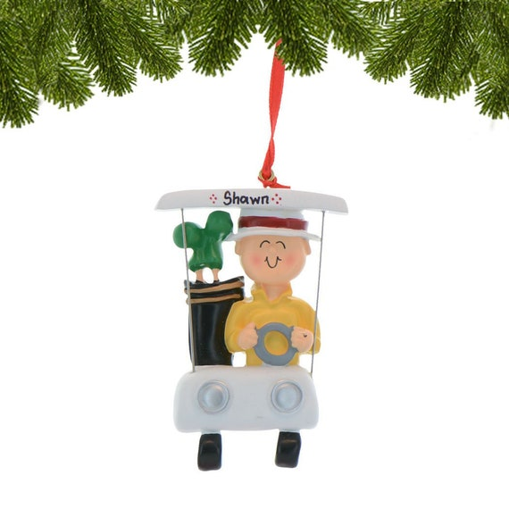 Golf Cart Christmas Decorations.Personalized Golf Ornament Golfer Christmas Ornament Custom Golf Ornament Golf Ornament With Name Golf Cart Golf Bag Gift For Golfers