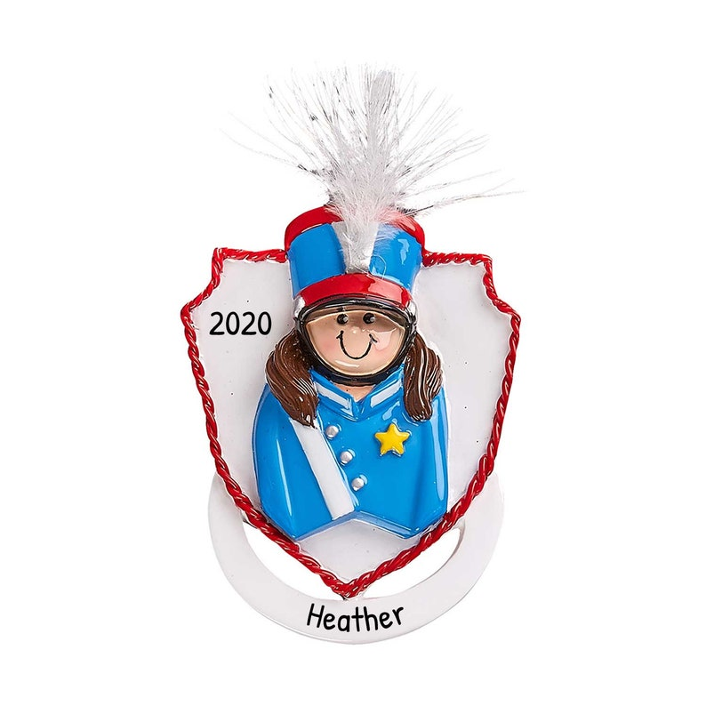Marching Band Christmas Ornament Musical Musician Band Personalized Marching Band Girl Ornament Custom School Band Ornament with Name