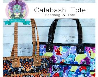 Calabash Handbag & Tote Sewing Bag PDF PATTERN