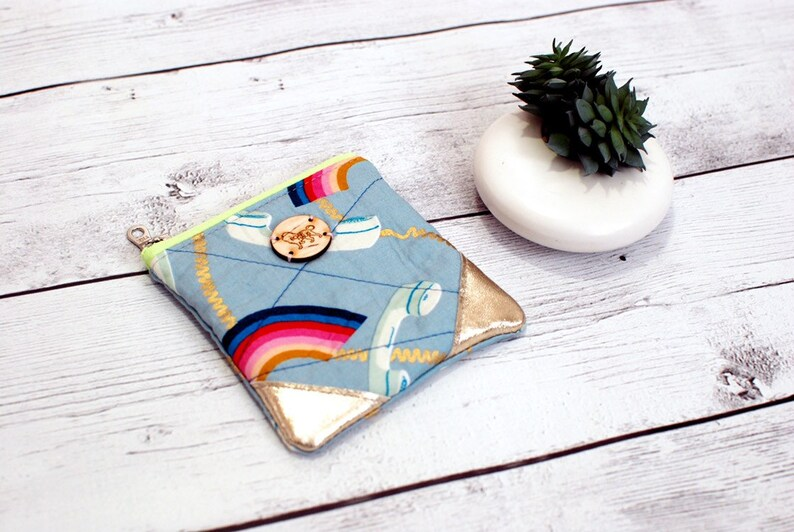 Rainbow Telephone Ruby Star Society Zip Pouch Coin Loose image 0