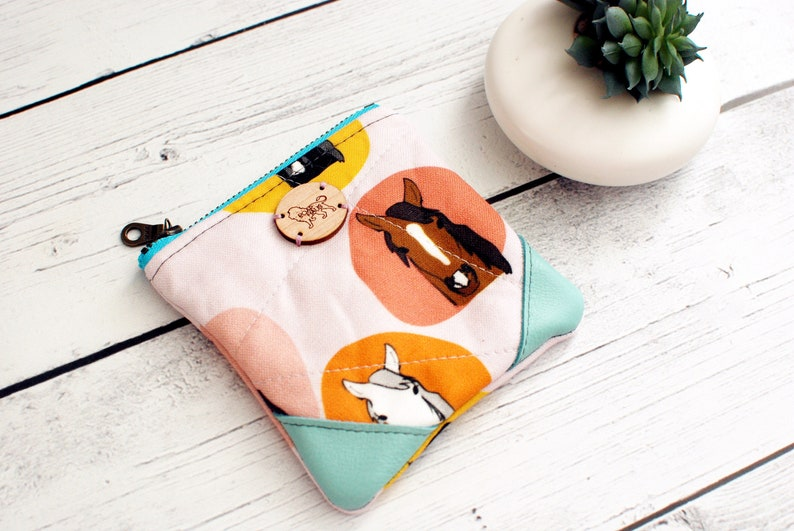 Zip Pouch Coin Loose Change Travel Purse Makeup Bag Zippered image 0