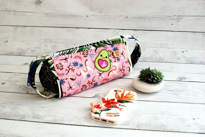 Sew Together Bag Avacado Embroidery Rifle Paper Co fabric image 0