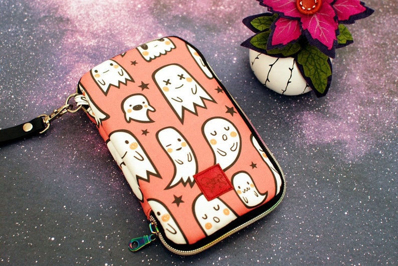 Day Trip Wallet Clutch Ghost Halloween Backstitch Cell Phone image 0