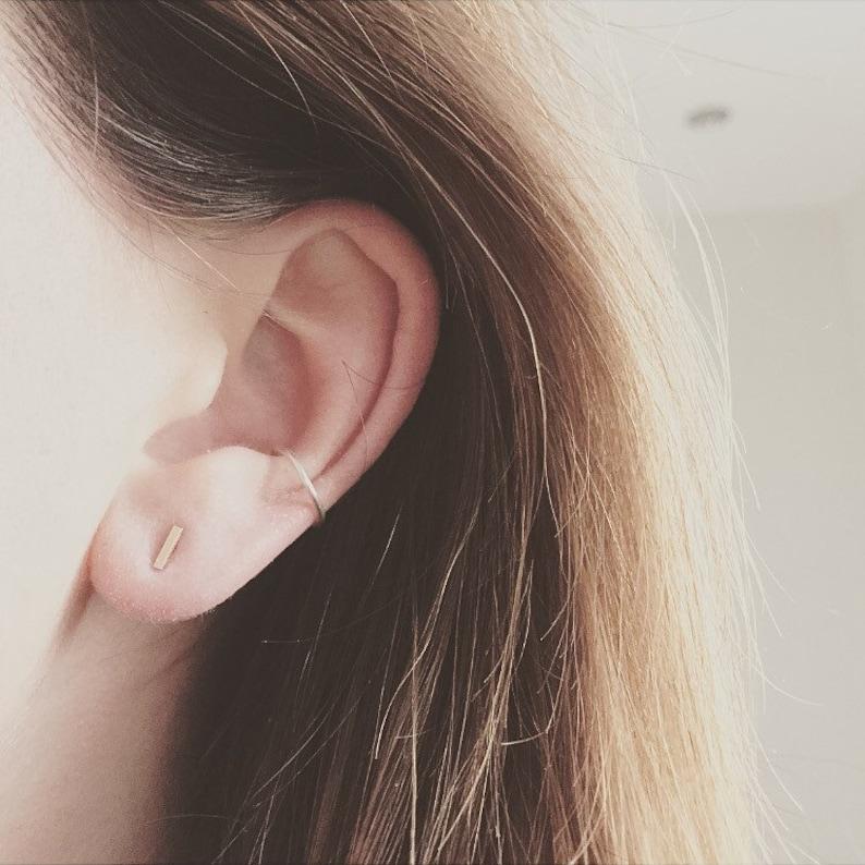Sterling Silver Cuff Tragus Ear Cuff Rose Gold Snug Non Pierced Ears Gold Conch Ear Cuffs Silver Conch Earcuff Conch Ear Cuff
