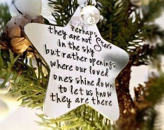 memorial star christmas decoration christmas tree ornament perhaps they are not stars in the sky missing you remembrance gift star