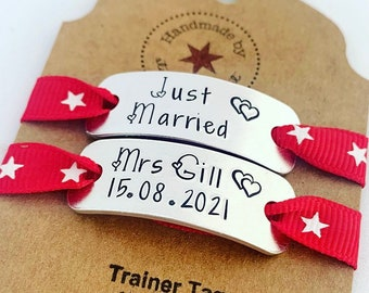 Wedding Shoe Clips, Customise your Converse, Bride Pumps, Evening Shoes, Wedding Lace Tags,  Bride Gifts, Bridesmaid Gifts, Gifts for Groom