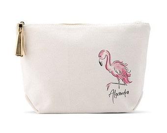 73750c2b0f19 Flamingo makeup bag | Etsy