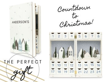 Personalized Advent Calendar - Wooden Advent Calendar - Christmas Countdown - Custom Christmas Gift - Kids Advent - Refillable Advent