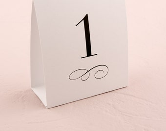 Wedding Table Numbers - Tent Table Numbers - Table Number Tent Style Card - Wedding Signage - Wedding Table Decor - Wedding Decor