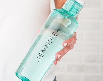 Custom Water Bottle - Personalized - Plastic  Water Bottle - Reusable - Eco Friendly - Gift - Workout Class - Workout Group - Gym Bottle