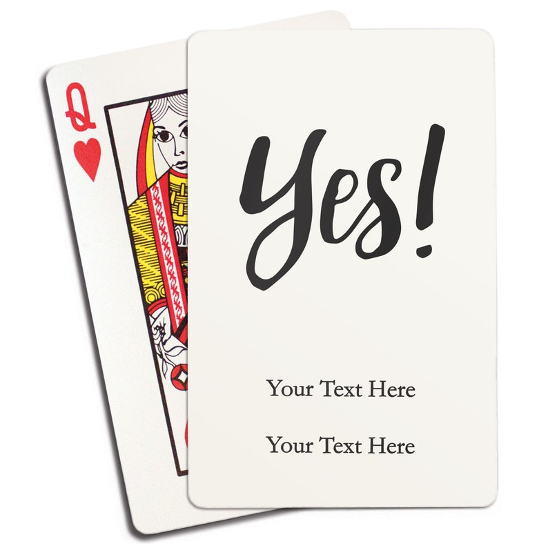 Custom Wedding Favor Yes Unique Engagement Announcement Engagement Party Wedding Party Gift Personalized Playing Cards Design
