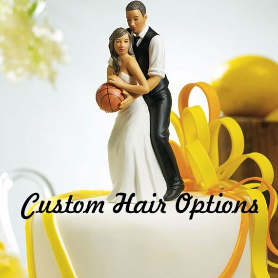 Wedding Cake Topper Basketball Couple African American Etsy