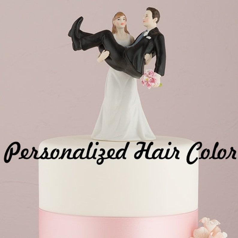 Personalized Wedding Cake Topper Funny Cake Topper Bride Holding Groom Weddings Cake Topper Modern Fun Cake Topper