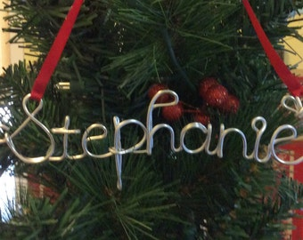 Personalized wire name ornament,Stephanie ornament
