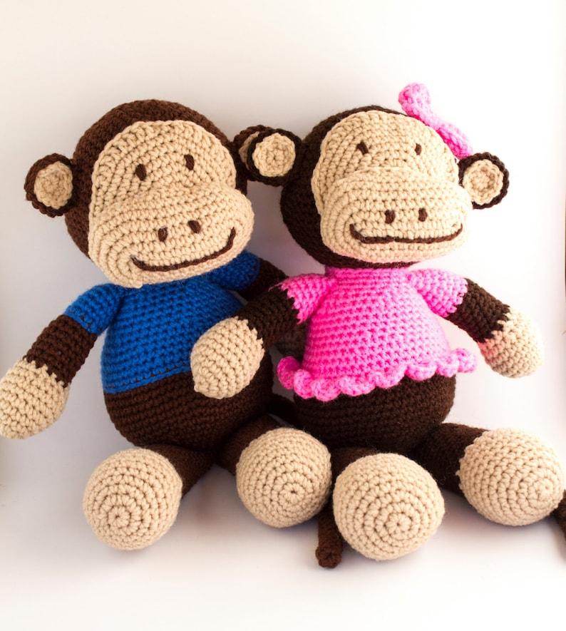 Crochet Monkey Toy image 0