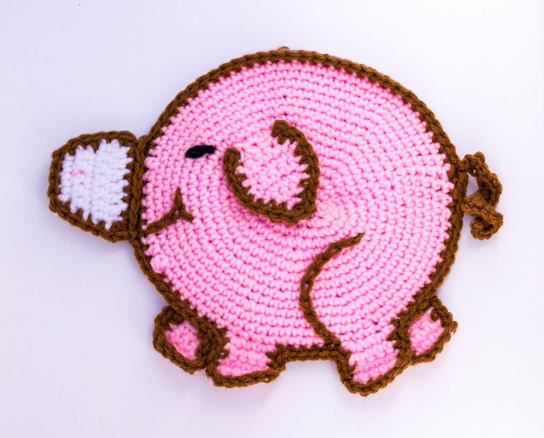 Whimsical Pig Potholder Etsy