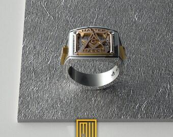 Masonic diamond ring   Etsy