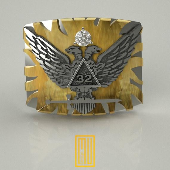 32nd Degree Wings Up Northern Jurisdiction Masonic Lapel Pin 32nd Degree Pin