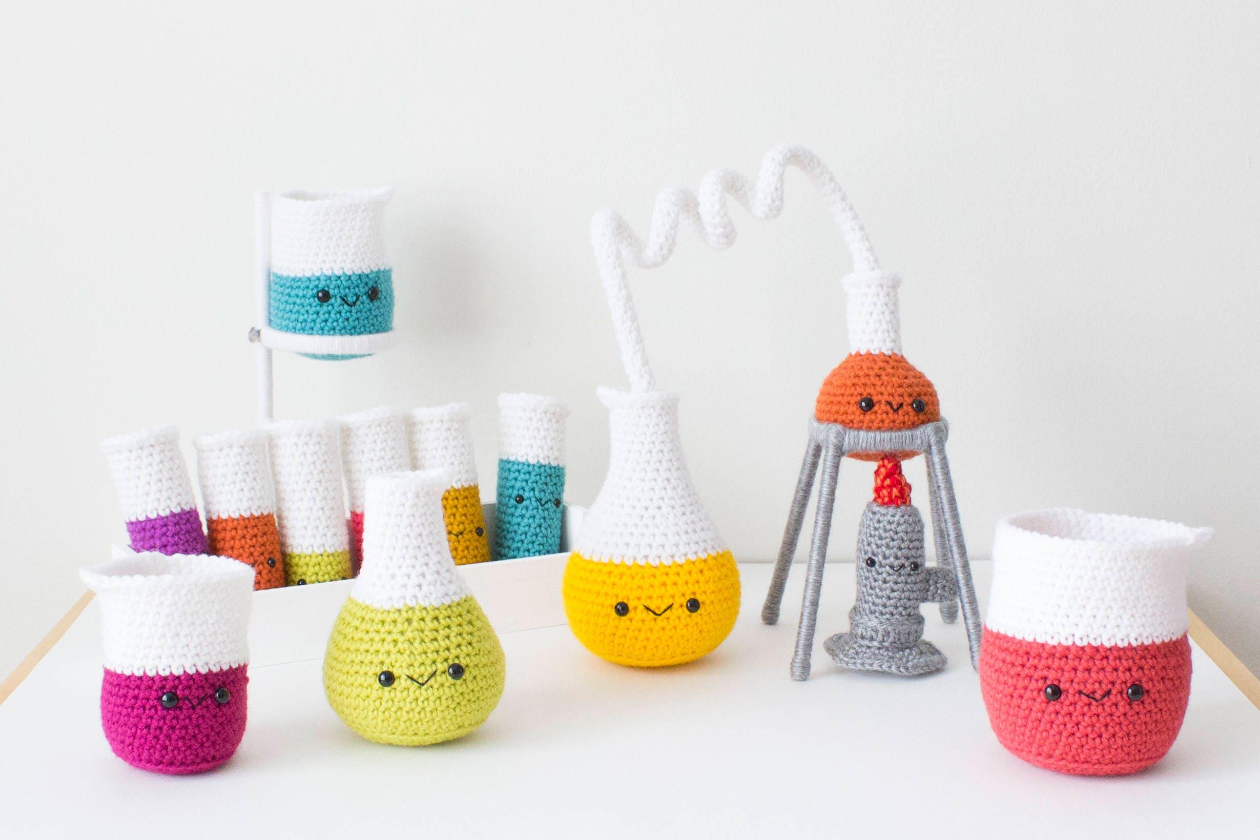 PATTERN ONLY: Crochet Chemistry Set Amigurumi Chemistry Set | Etsy